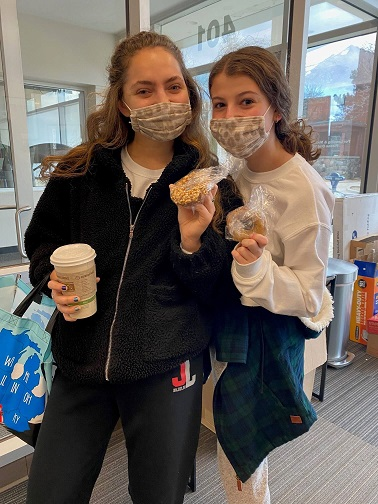 Residents Holding Donuts