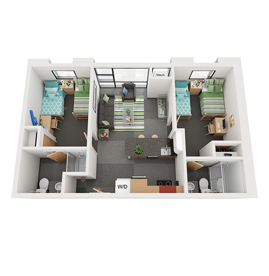 B1 Double Occupancy Rendering